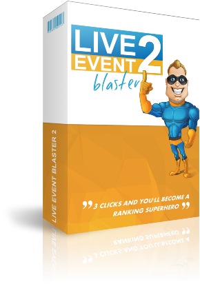 Live Event Blaster 2 - how to get to page number 1 on Google and YouTube