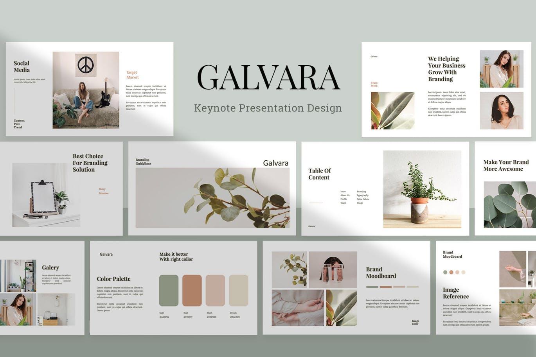 Galvara - Keynote Template
