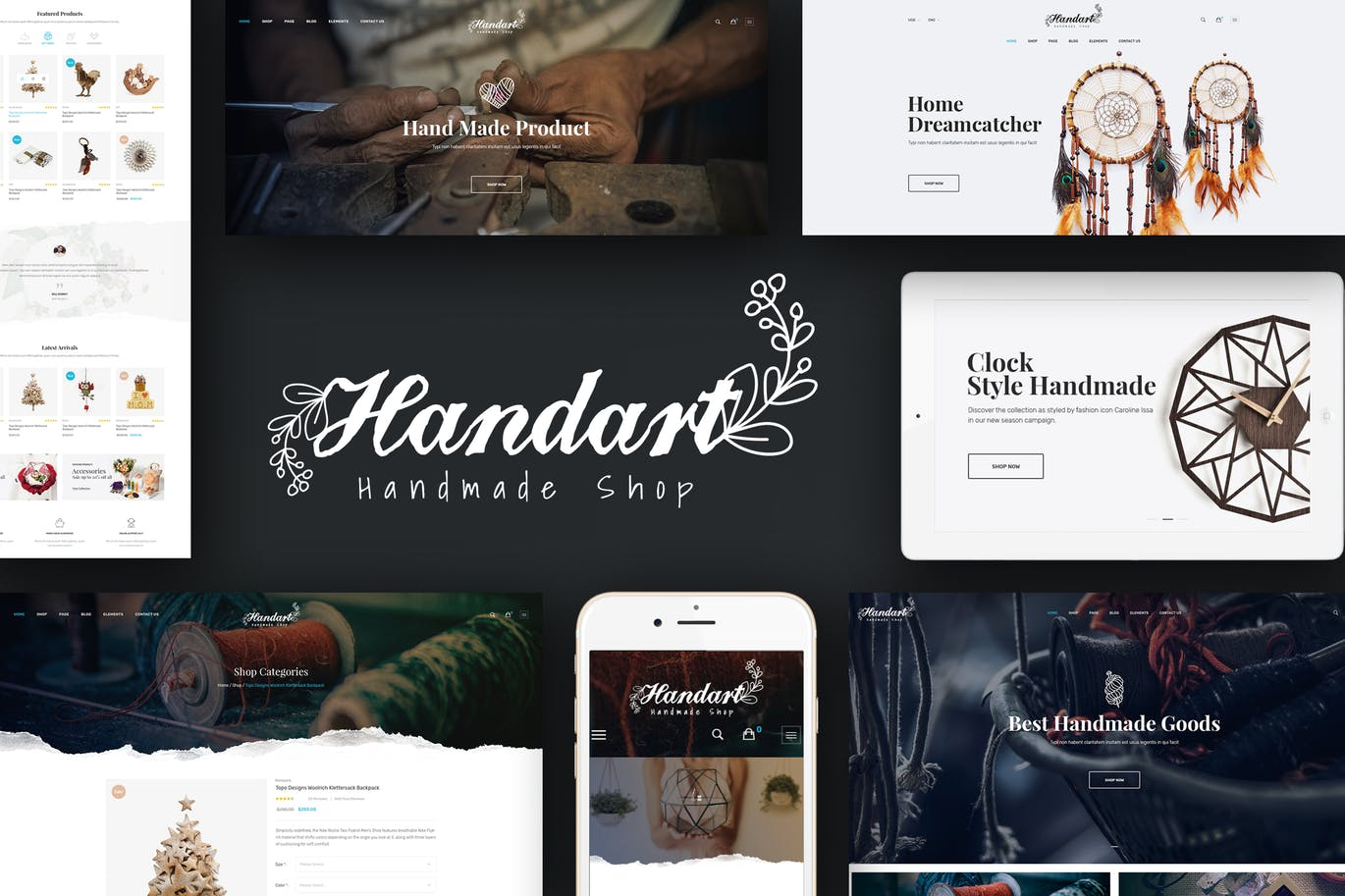 Handart Magento 2 theme offers you an online store to sell handmade products and other goods with innovative design and powerful features. Handart theme is responsive, retina ready and coming with +4 homepage layout styles that adapt to all your requirements. Cms blocks and banners come along with the theme, making it much easier to visualize your content and even insert ads on your page. If you plan on having a large collection of crafty products in your online store, Megamenu helps organize them. The Custom Slider homepage combines wonderfully with the other extensions, and the full-screen photo homepage is highlight of the theme. Show nice thumbnail image for each category with Tabs Category Slider. CSS3 animation effects and Bootstrap 3 work to make your advantage with nice effects. Manufacturer is shown in each product. Upload images when hover on a product and customers can see Add To Cart, Add To Compare, Add To Wishlist buttons. Handart is really a responsive magento theme suitable for you! Features & Extensions Responsive and retina ready 4 Different Layouts Flexible layout format comes with various styles. Mega Menu support Setup rows and columns Display static blocks contain texts below menu items Translation Blog module included AJAX Layered Navigation Clean, modern design can be used for any type of website Grid / List view Allow to display your items in either list or grid view Set Layout for each page Easy define column left or column right for each page in admin panel. Custom Banner Slider Tabs Category Slider Featured Category Featured Products Slider New Products Slider Bestseller Products Slider Mostviewed Products Slider Onsale Products Slider Random Products Slider Related Products Slider Upsell Products Slider Testimonials PSD included