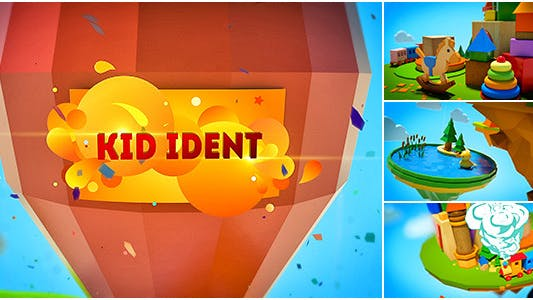 Kids Show Ident Broadcast Package - Broadcast - After Effects