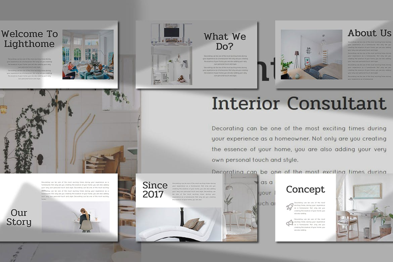 Interior Consultant Keynote Template