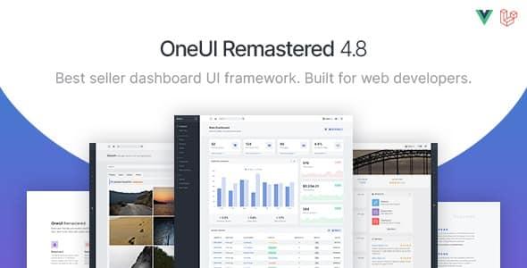OneUI - Bootstrap 4 Admin Dashboard Template, Vuejs & Laravel 8 Starter Kit