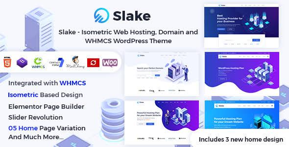 Slake v2.0 - HTML Hosting Template