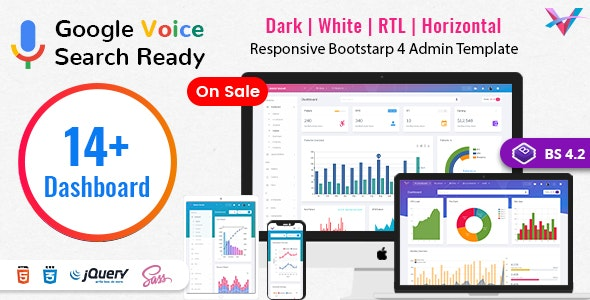 VoiceX v4.2.1 - Bootstrap admin panel template