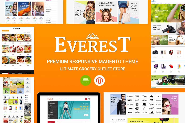 Everest Premium Responsive Magento Theme CE 1.9.x