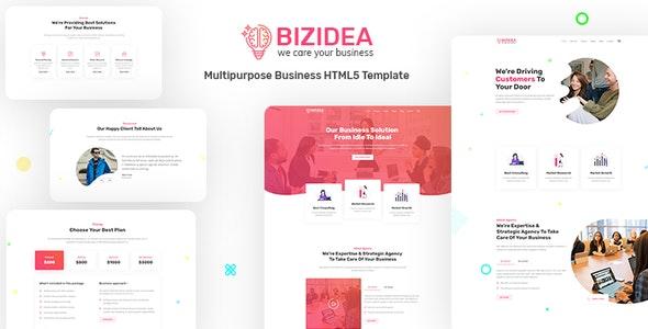 Bizidea |Multipurpose Business HTML5 Template