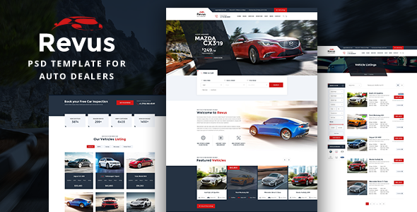 HTML template for car dealers
