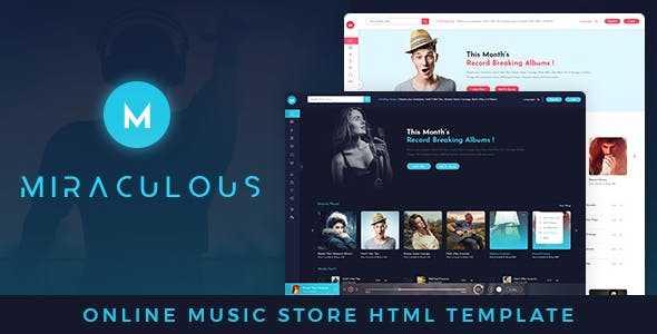 music HTML template