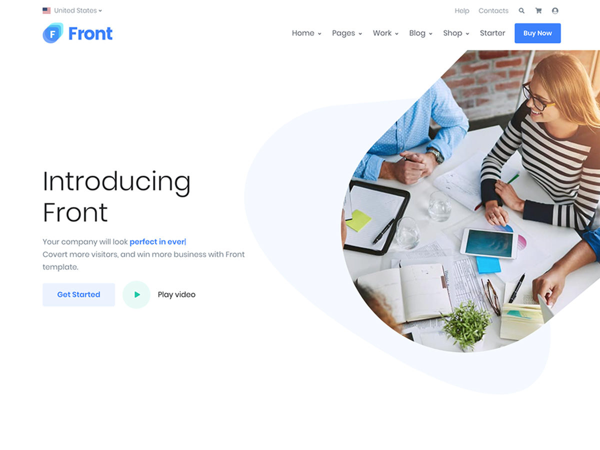 Front - Multipurpose Bootstrap Template