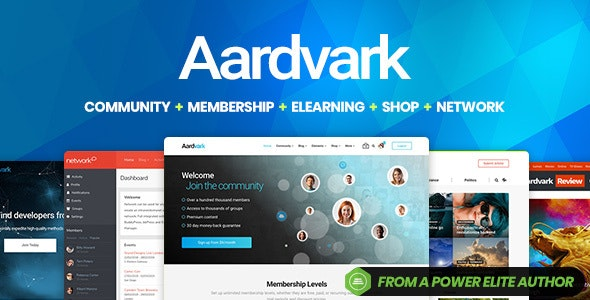 Aardvark v4.19 - Template for the BuddyPress WordPress Community