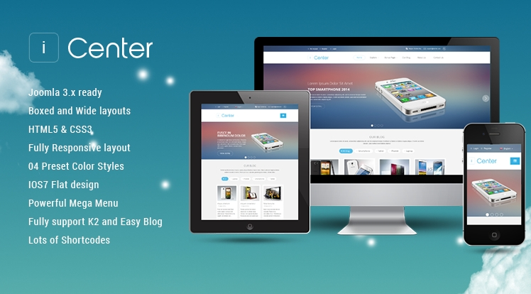 Apple Joomla Store Template