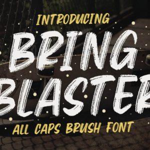 Bring Blaster - All Caps Brush Font