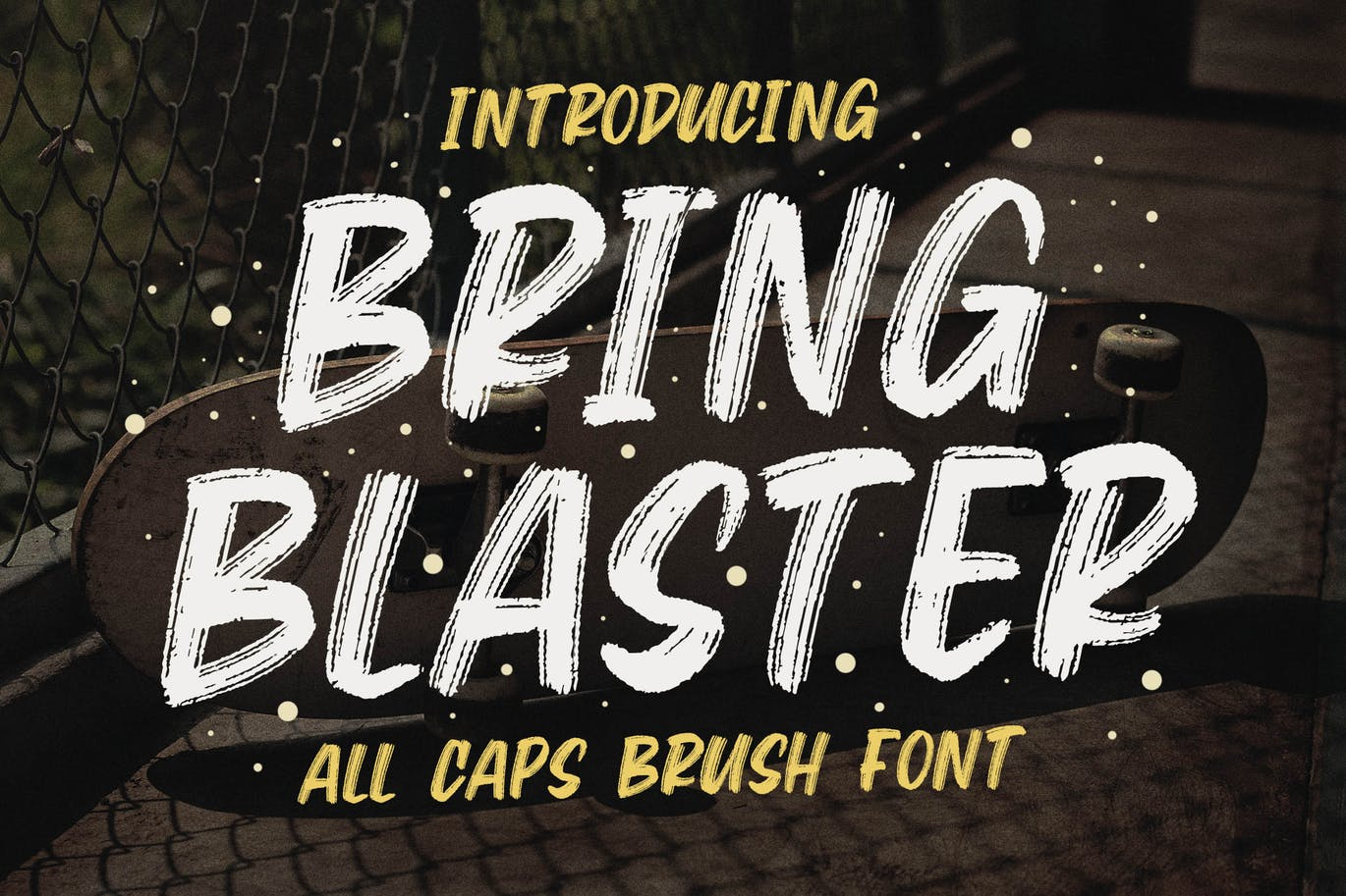 Bring Blaster - All Caps Brush Font