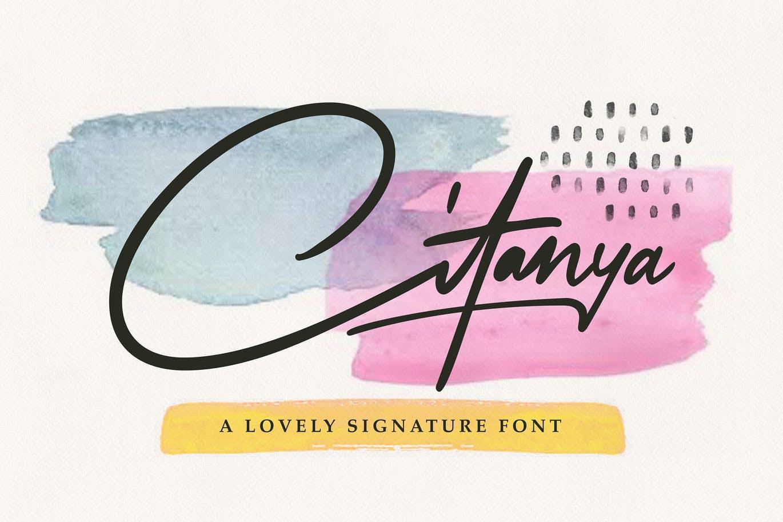Citanya - Script Font