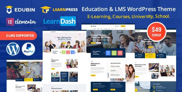 Edubin - LMS Educational WordPress Theme