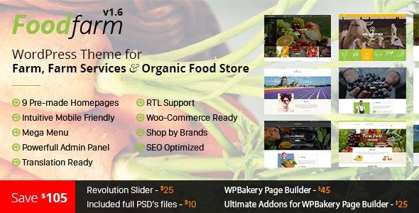 FoodFarm v1.8.4 - WordPress Theme for Farm, Farm Services and Organic Food Shop