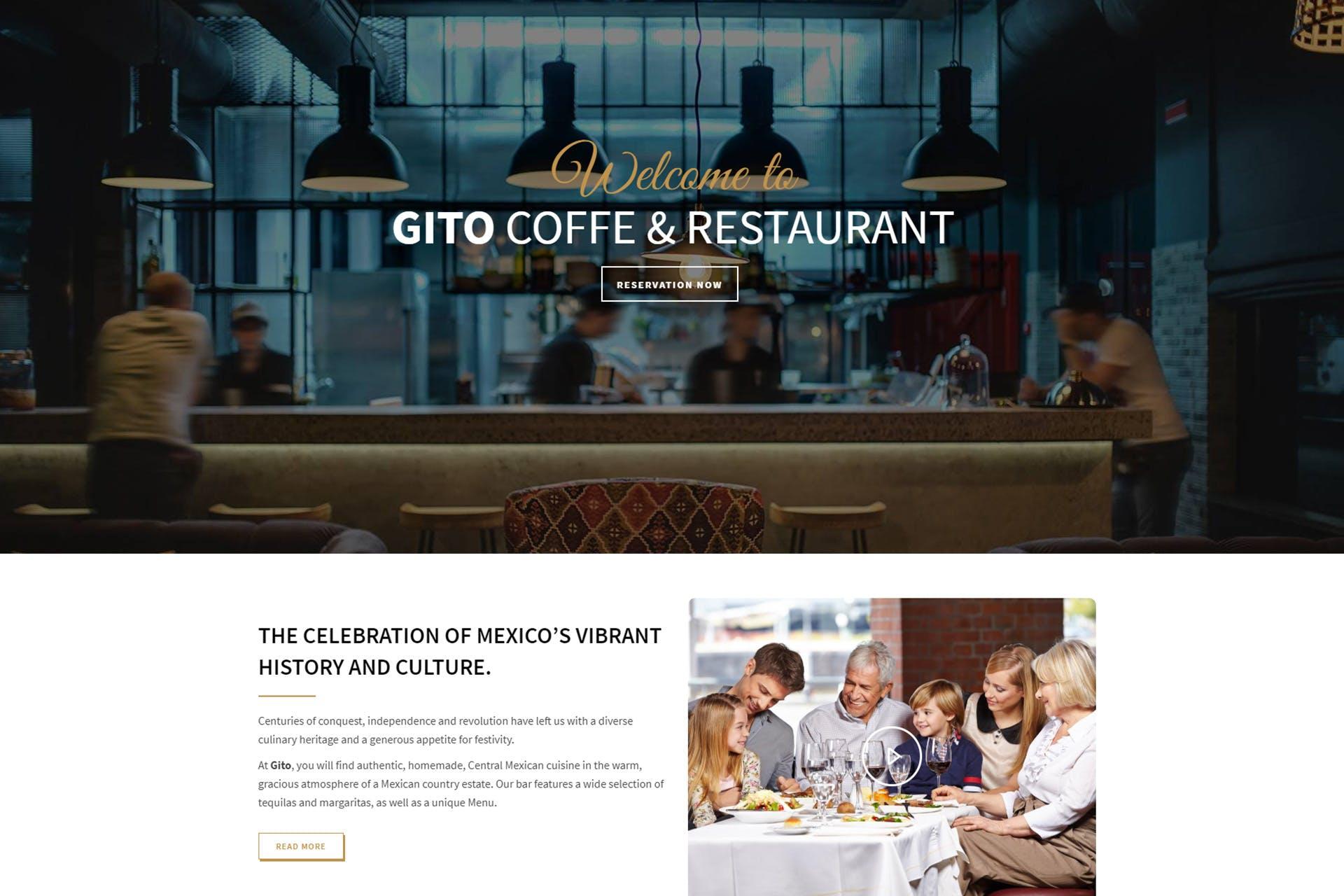 GITO - Cafe & Restaurant Drupal 8 Theme