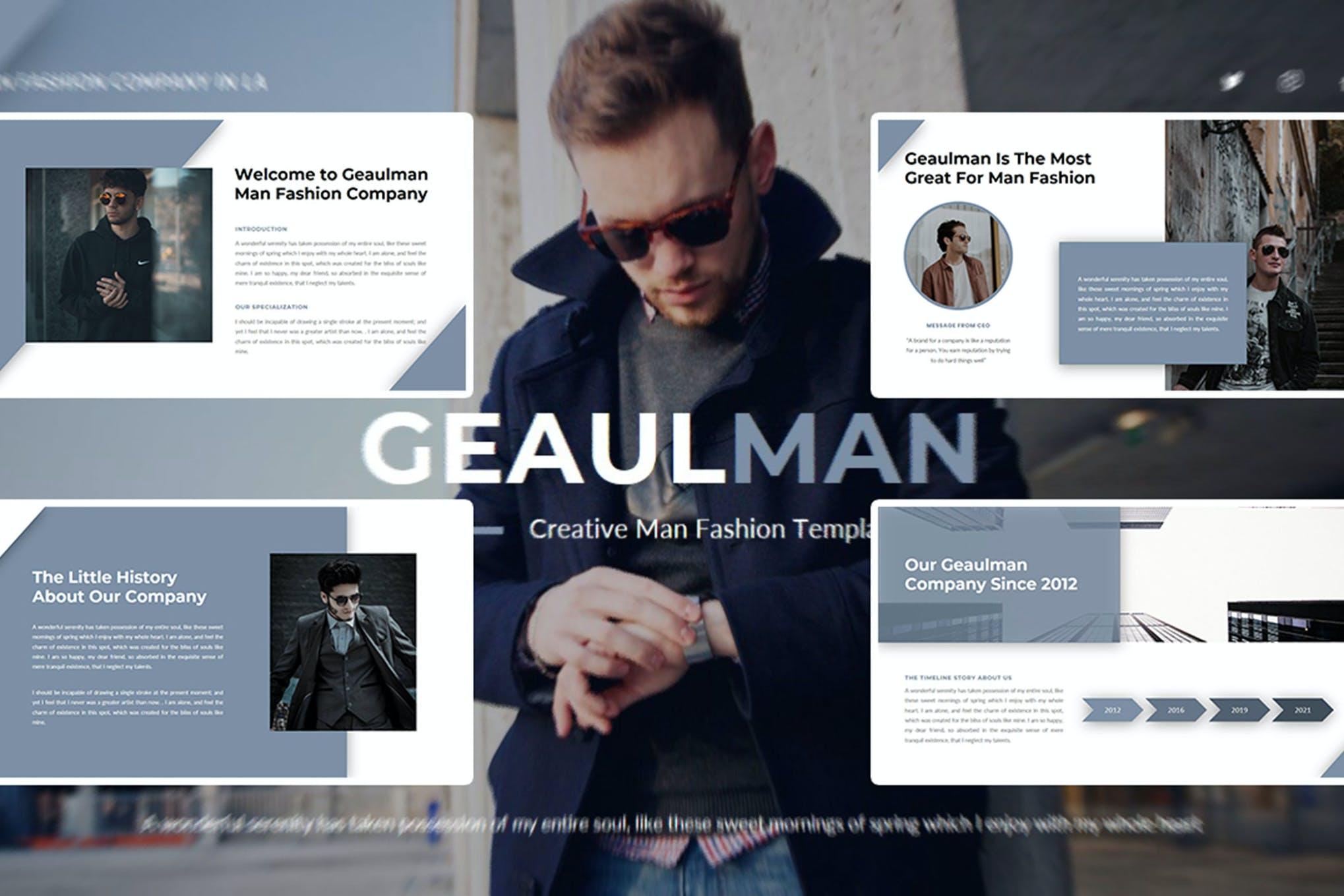 Geaulman – Creative Fashion PowerPoint Template