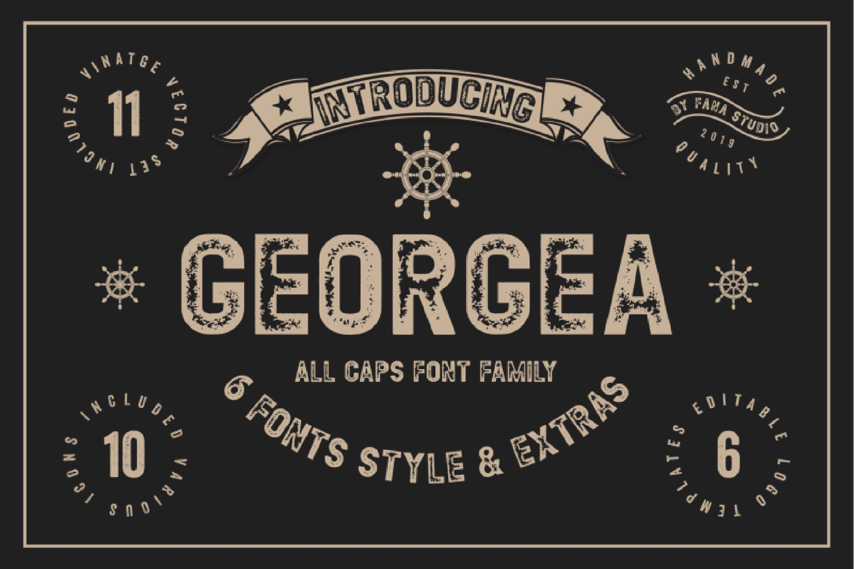 Georgea Vintage Font