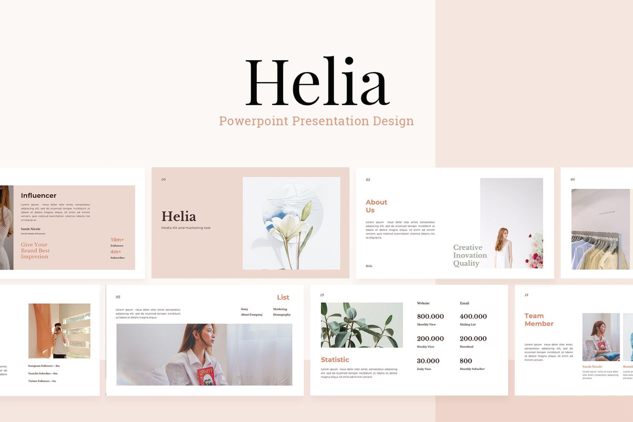 Helia - Powerpoint Template