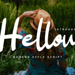 Hellow - Modern Style Script Font