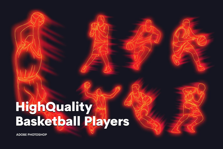 High quality basketball character players