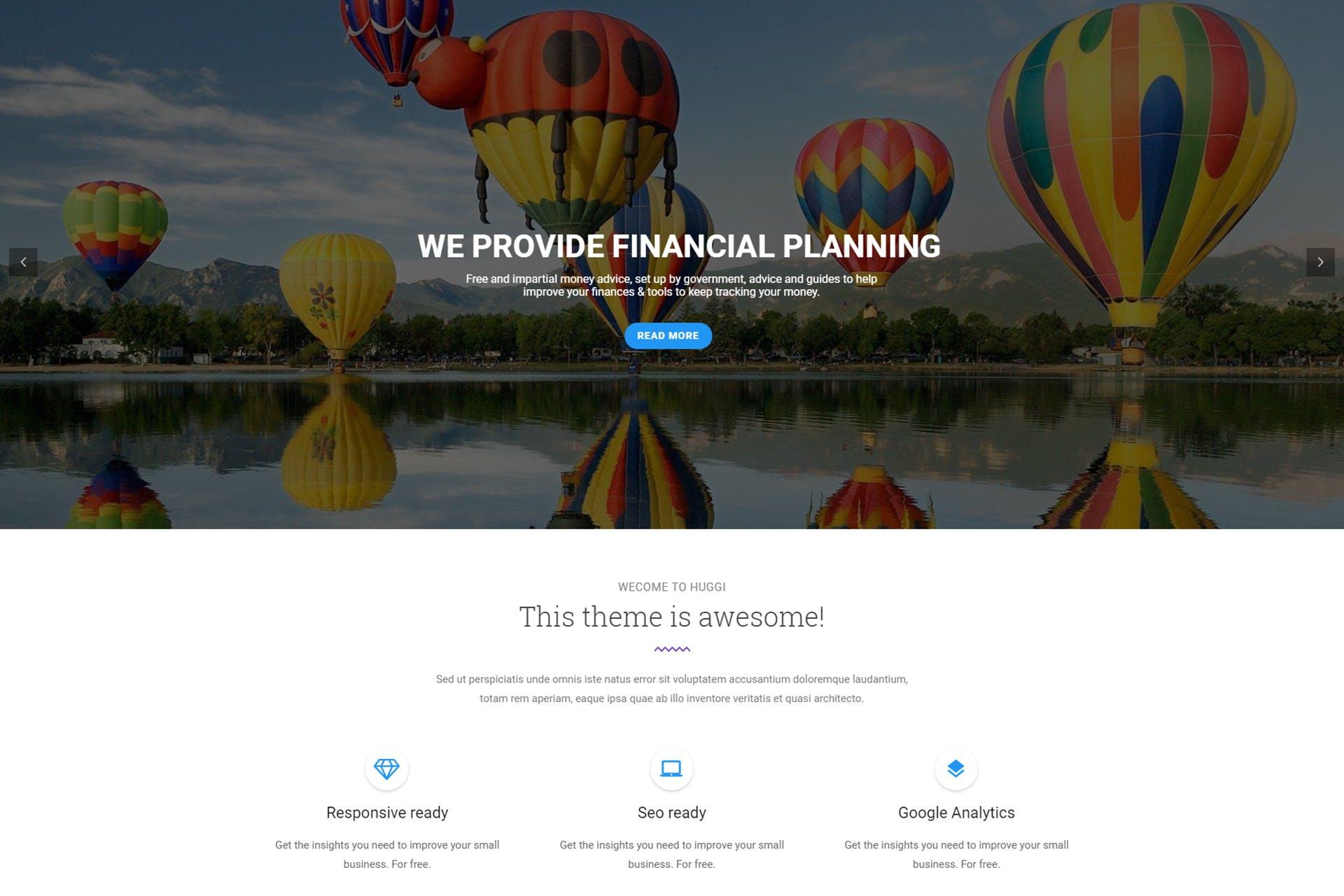 Huggi - Responsive Business Drupal 8 Theme