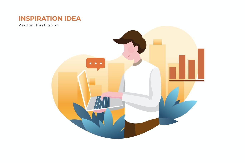 Inspiration idea vector illustration