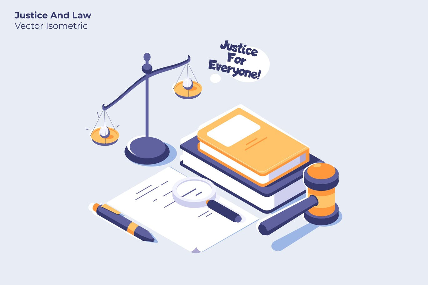 Justice and Law - Vector Illustration