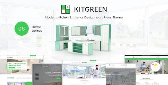 KitGreen - Modern Kitchen & Interior Design WordPress Theme
