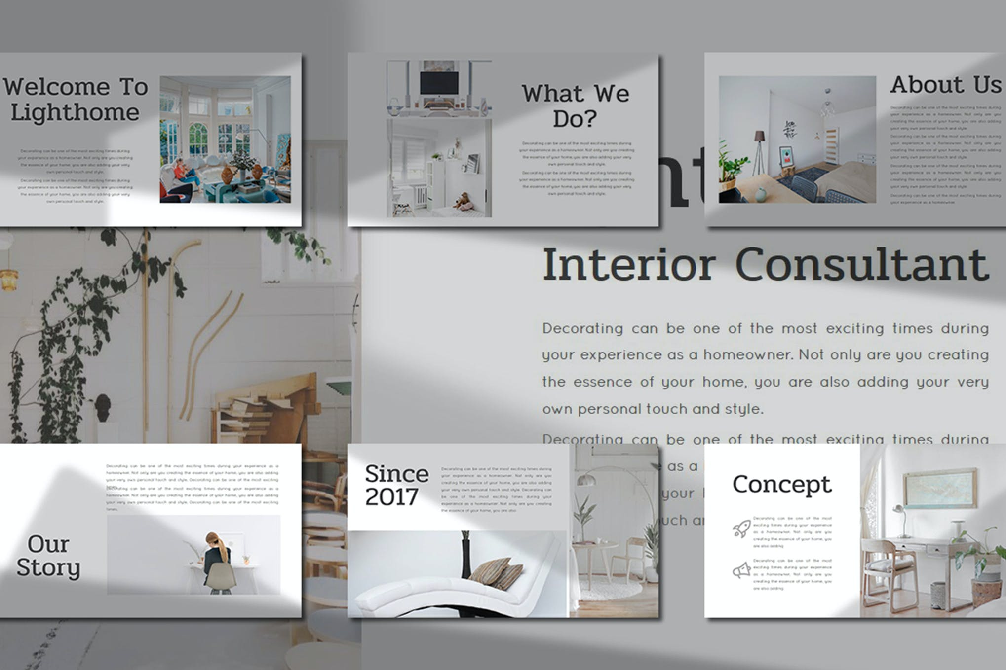 Lighthome – Interior Consultant PowerPoint