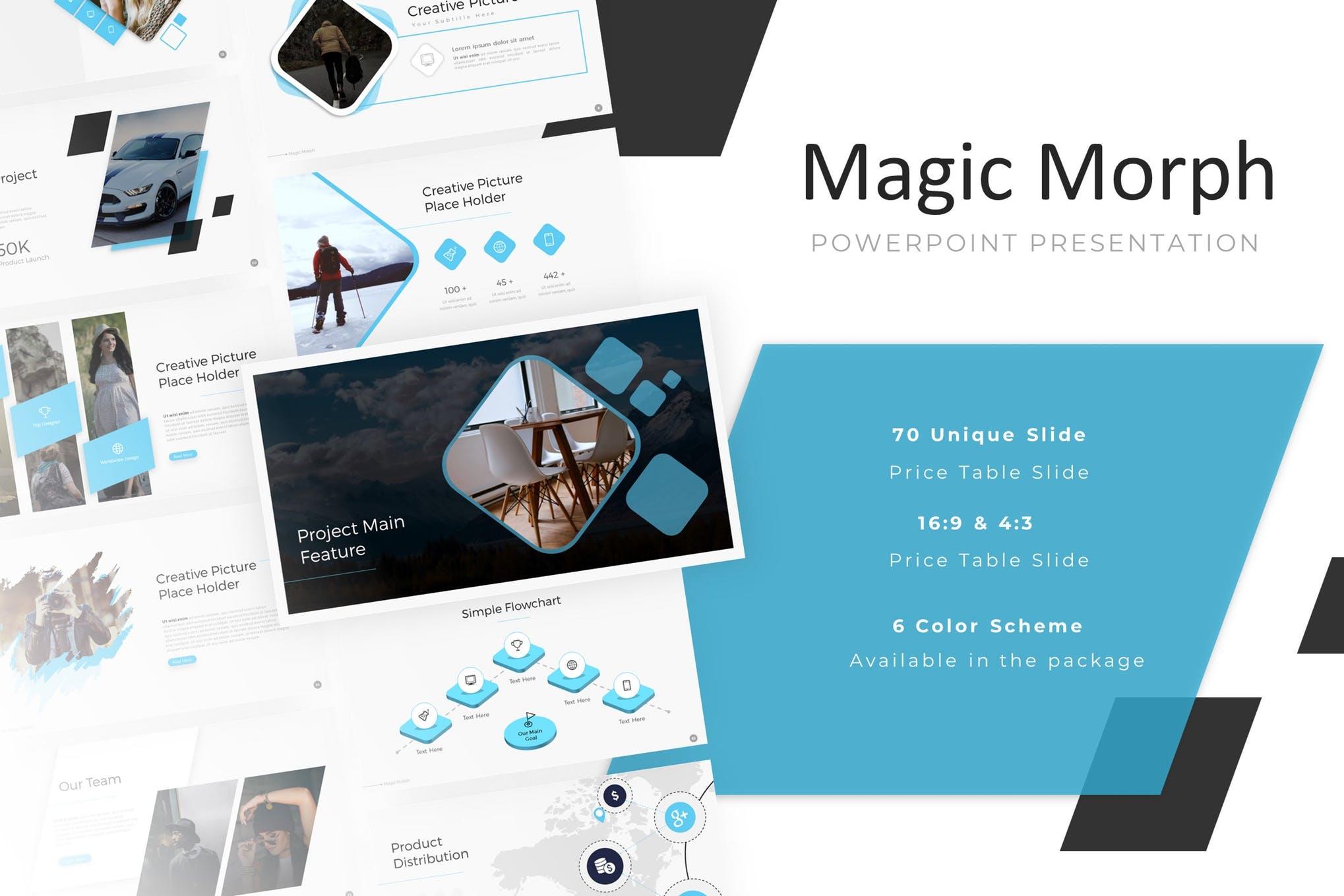 Magic Morph PowerPoint Presentation Template
