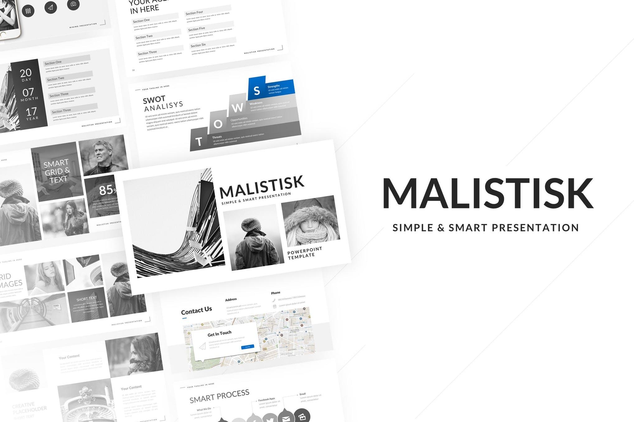 Malistisk Powerpoint Presentation Template