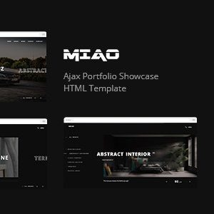 Miao - Ajax Portfolio Showcase HTML Template