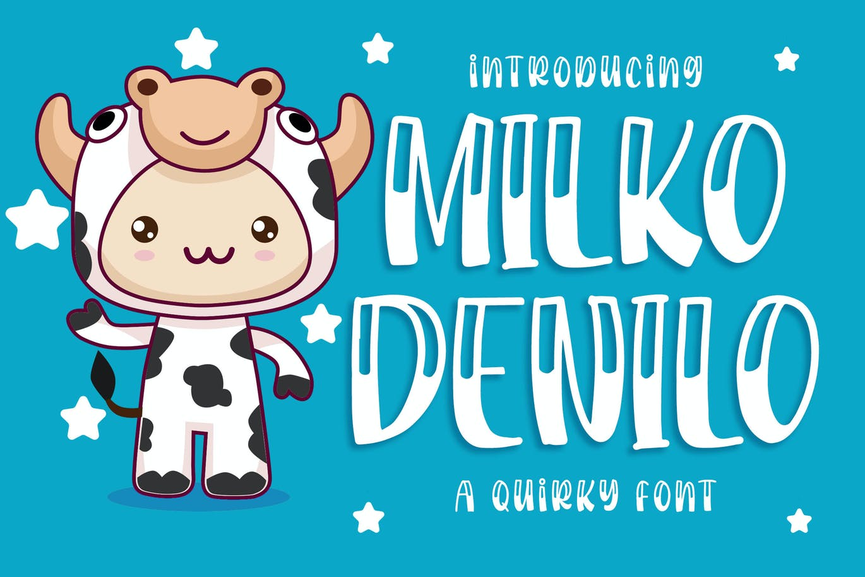 Milko Denilo - a Quirky Font