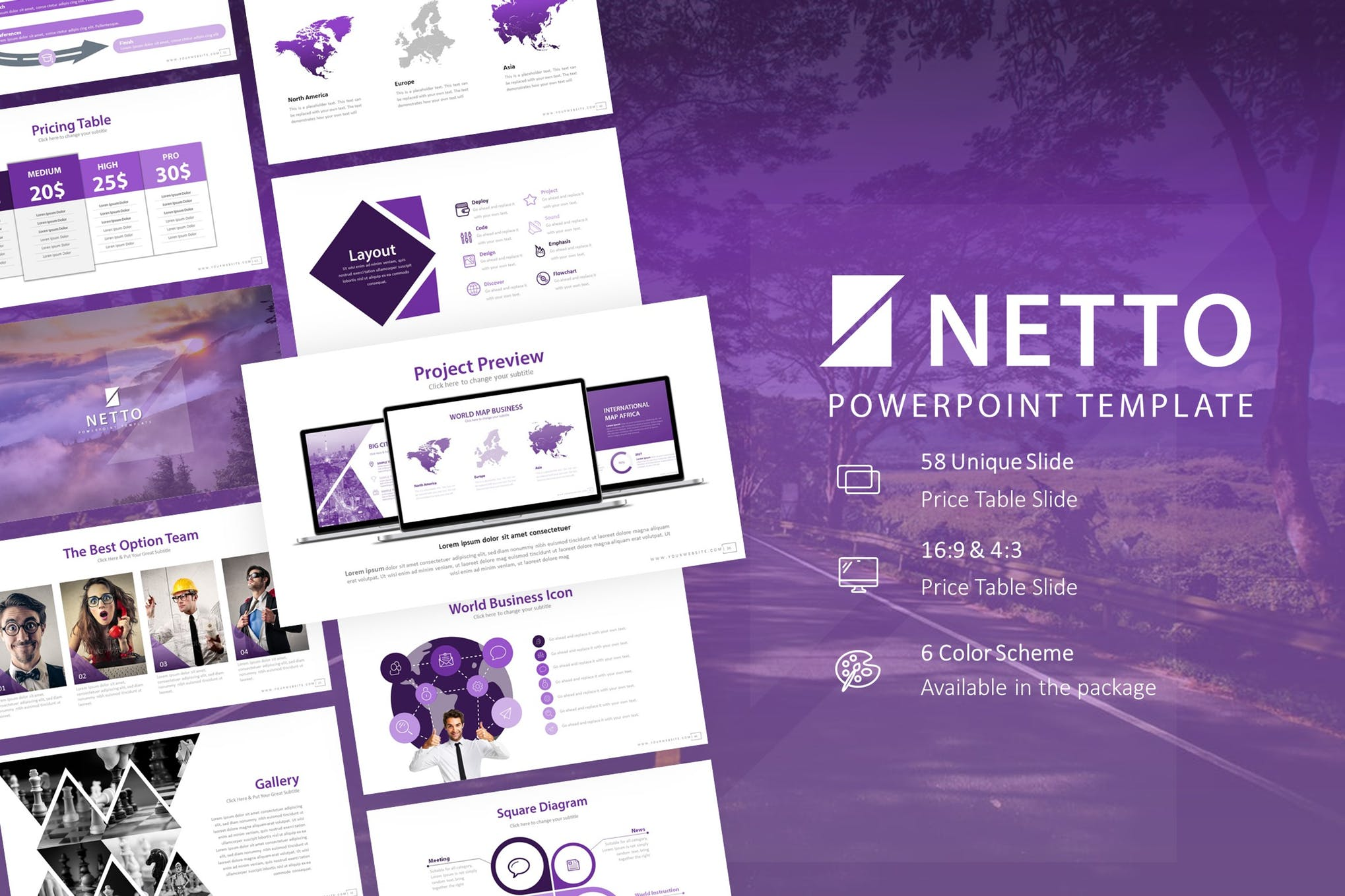 Netto Presentation PowerPoint Template
