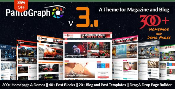 PantoGraph v3.2 - WordPress News Site Theme