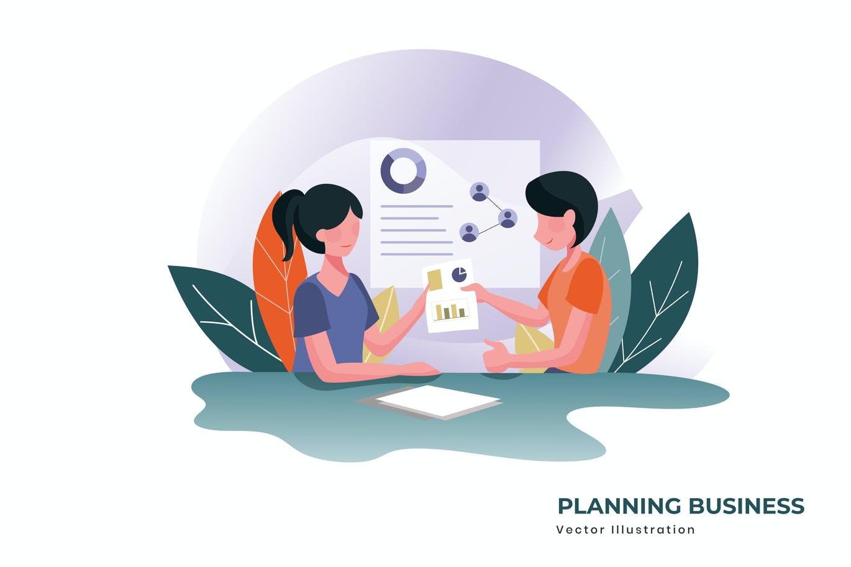 Planning business vector illustration