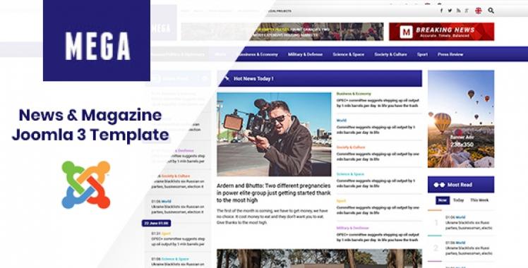 Professional Joomla News Template
