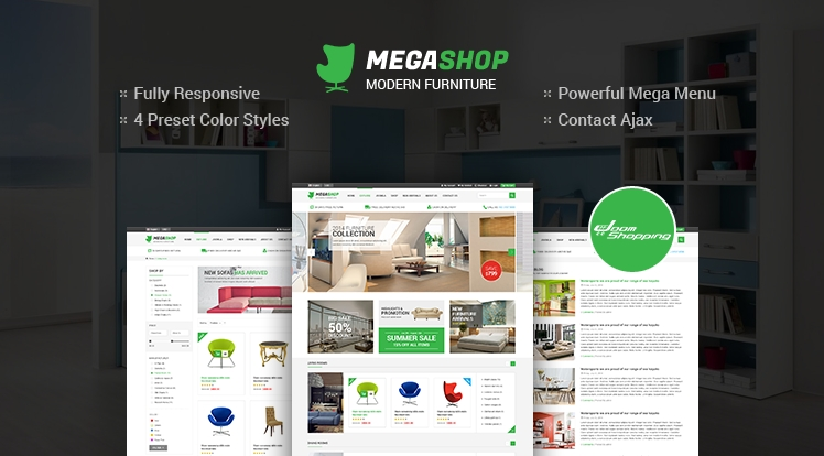 Responsive Joomla E-Commerce Template