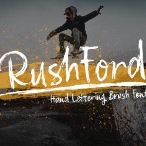 RushFord - Brush Lettering Font