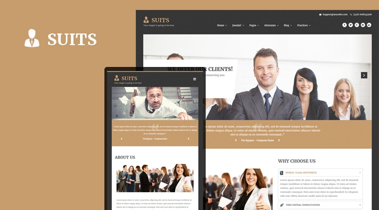 SJ Suits - template for lawyer and law firm Joomla