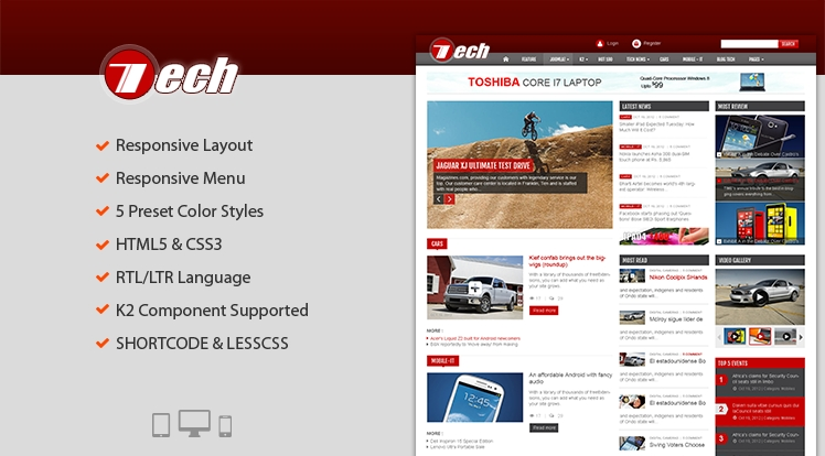 SJ Tech - Joomla site template