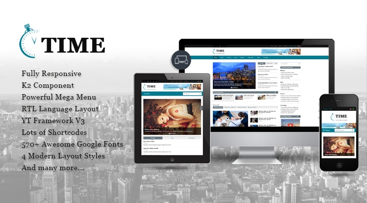 SJ Time - Responsive Joomla News Magazine Template
