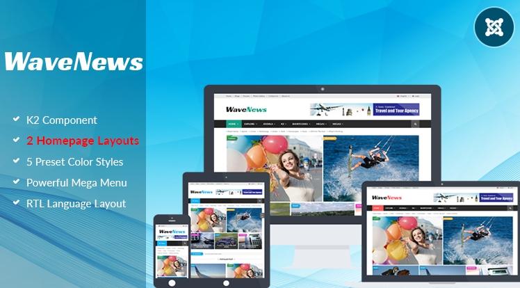 SJ WaveNews - Responsive Joomla news magazine Template