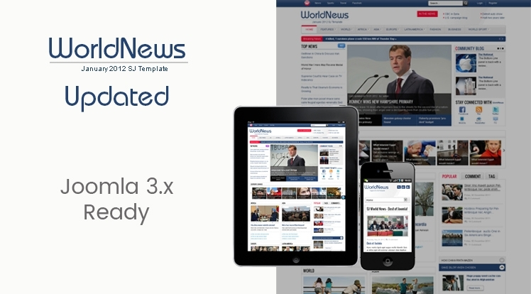 SJ WorldNews - Joomla template for news sites