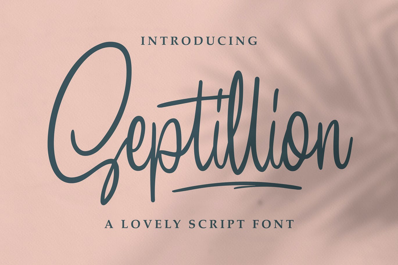 Septillion - Script Font