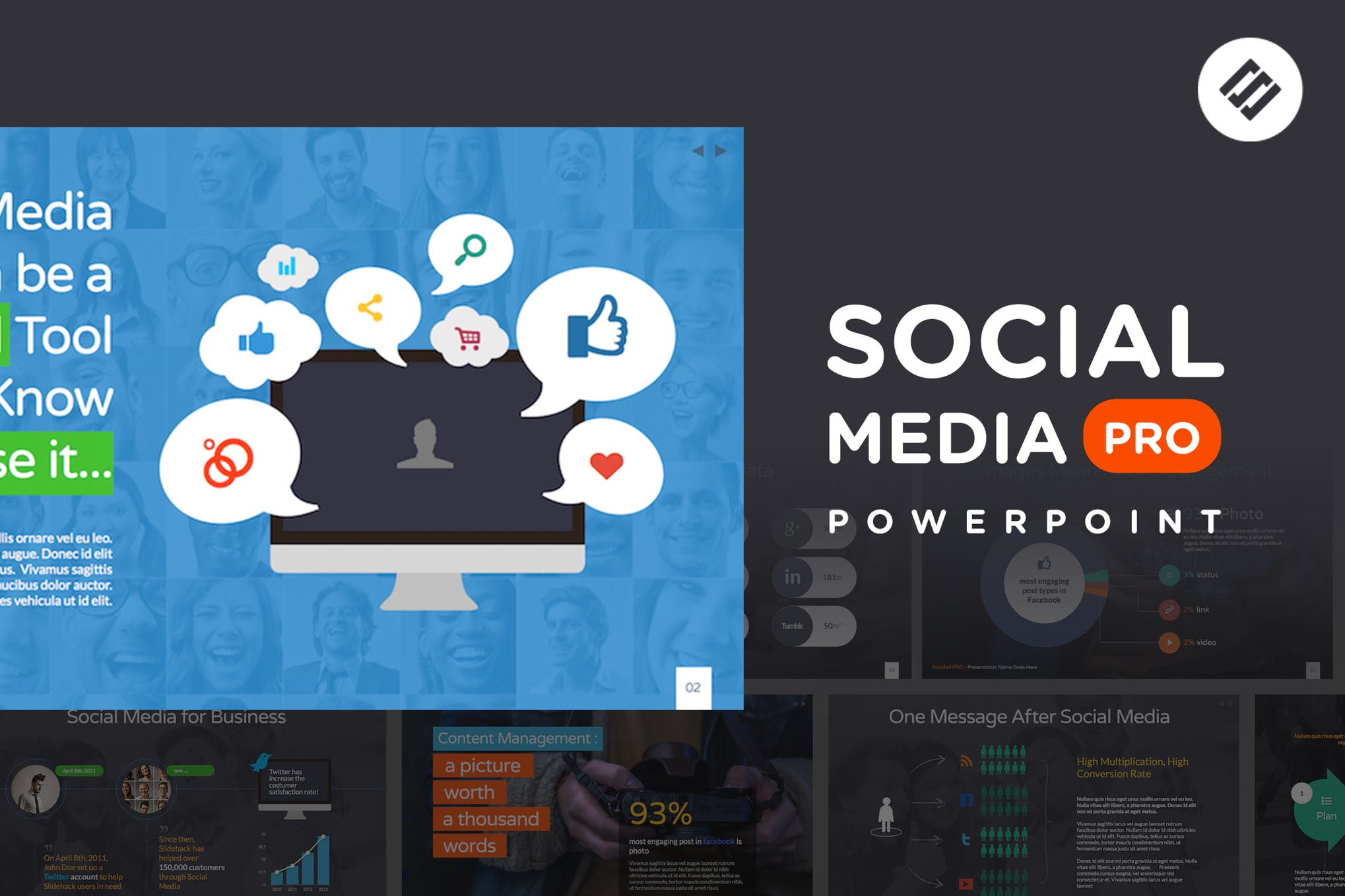 Social Media PRO - Powerpoint Template