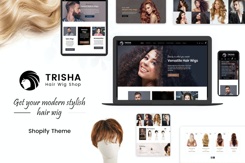 Trisha Hair Weave, Wig Shopify Theme