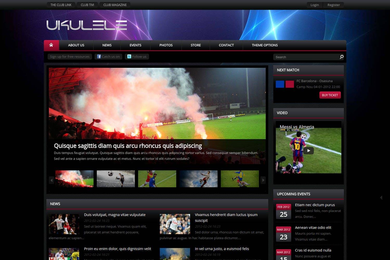 Ukulele - Sport Club Drupal Theme